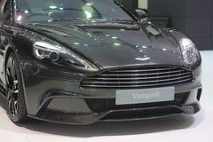 Bangkok - 31 marzo: Lo spettro 007 di Aston Martin sgomina sull'automobile nera al trentasettesimo salone dell'automobile interna Fotografia Stock