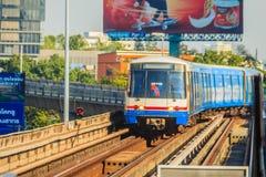 Bangkok Mass Transit System (BTS) public skytrain at BTS sky train station, Bangkok, Thailand. At present, BTS is become the main royalty free stock image