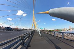 Bangkok Mega sling Bridge,Rama 8 Stock Images