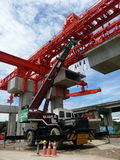 Bangkok Metro. Red urban rail construction in thailand Royalty Free Stock Image
