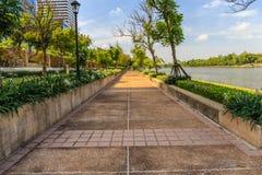 Bangkok Metropolis, the capital. Of Thailand. The Sukhumvit area with Benjasiri Park royalty free stock photos