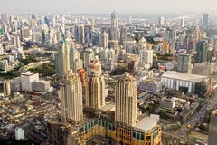 Bangkok Metropolis in Thailand. Bangkok Metropolis, aerial view over the biggest city in Thailand Royalty Free Stock Photography