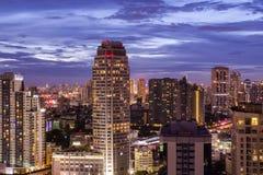Bangkok miasta noc żywa Fotografia Stock