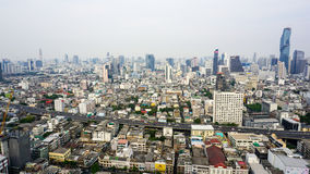Bangkok miasta viee od dachu Obraz Royalty Free