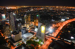 Bangkok miasto przy nocą Obrazy Stock