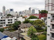 Bangkok miasto z budynkami i drapaczami chmur obrazy stock