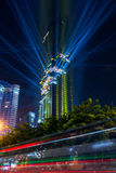Bangkok miasto z Mahanakorn wierza obraz royalty free