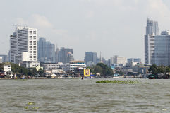 Bangkok Modern building river side. Bangkok cityscape Modern building river side Royalty Free Stock Photos
