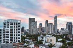 Bangkok modern horisont Arkivfoton