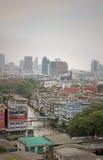 Bangkok moderne et traditionnel Thaïlande Images libres de droits