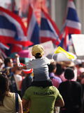 Bangkok on Monday, Dec 9, 2013(International Anti Corruption day) Royalty Free Stock Images