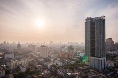 Bangkok in the morning. Airial view Royalty Free Stock Image