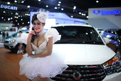 BANGKOK MOTOR SHOW - MARCH 26 , SSANGYONG STAVIC  car Royalty Free Stock Photo