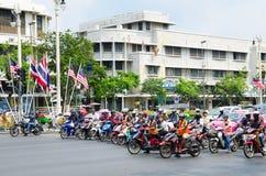 Bangkok motorcyclists Royalty Free Stock Images