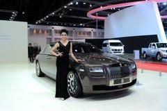 BANGKOK MOTOROWY przedstawienie - MARZEC 26, Rolls-Royce Phantom serii II samochód Zdjęcie Stock