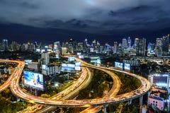 Bangkok motorväg royaltyfri fotografi