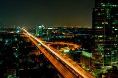 Bangkok in nacht Royalty-vrije Stock Afbeelding