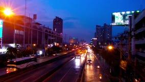 Bangkok-Nachtlicht, Zeitschöße stock footage