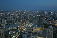 Bangkok nachts lizenzfreies stockfoto