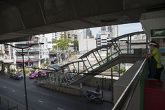 Bangkok Nana BTS station Royaltyfria Bilder