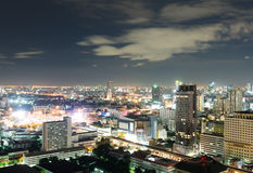 bangkok natt Royaltyfria Bilder