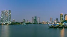 bangkok natt Royaltyfri Bild