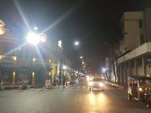 bangkok natt en Arkivfoton
