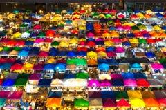 Bangkok nattmarknad Royaltyfria Bilder