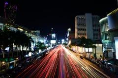 Bangkok nattsikt Arkivbilder