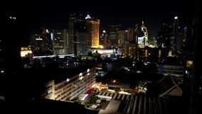 Bangkok nieba cyklin nighttime upływu materiał filmowy zbiory wideo
