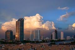 bangkok niebo dramatyczny nadmierny zdjęcie stock