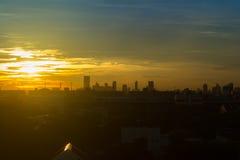 Bangkok niebo z zmierzchem Zdjęcie Royalty Free