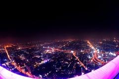 Bangkok Night. Beautiful Bangkok Night fish eye len Royalty Free Stock Photo