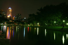 Bangkok in night Stock Photography