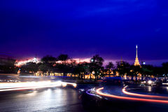 Bangkok night. Colorful streets of the capital Bangkok nightlife Stock Photography