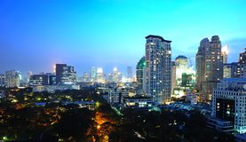 Bangkok at night Stock Photos