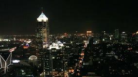Bangkok by night. Aerial view of Bangkok by night stock video footage