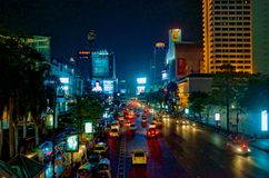 BANGKOK BY NIGHT 1. Bangok , capital of Thailand is very modern city,like any city in the west.With so many temples and small  traditional houses and so many Royalty Free Stock Photography