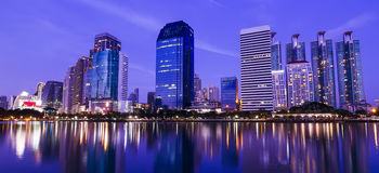 Bangkok in the night with building Royalty Free Stock Images