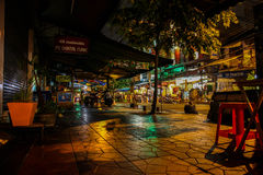 Bangkok at night, 2013. Capital of Thailand Bangkok is the capital and the most populous city of Thailand. It is known in Thai as Krung Thep Maha Nakhon or royalty free stock photos