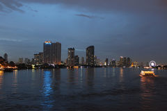 Bangkok night. City,(The capital of Thailand Royalty Free Stock Images