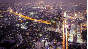 Bangkok night city royalty free stock photo