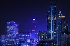 Bangkok night city view Royalty Free Stock Photo