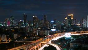 Bangkok night and fireworks, Cityscape Timelapse 4k stock video
