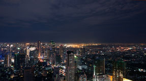 Bangkok night panorama Royalty Free Stock Photos