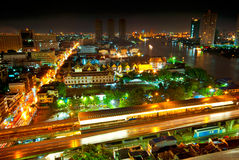 Bangkok night panorama Royalty Free Stock Image