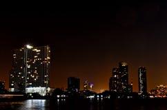 Bangkok night river view Royalty Free Stock Photography