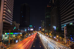 Bangkok night scene Royalty Free Stock Photos