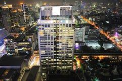 Bangkok night skyline Royalty Free Stock Photo
