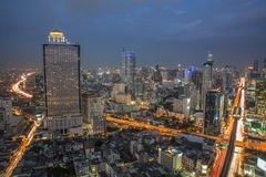 Bangkok Night Skyline Royalty Free Stock Image